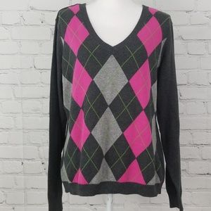 Izod Argyle Long Sleeve Sweater